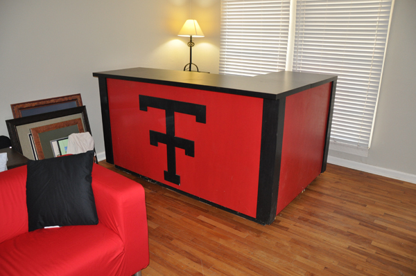 Custom built Texas Tech bar